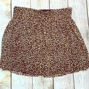 Express Leopard Mini Skirt
